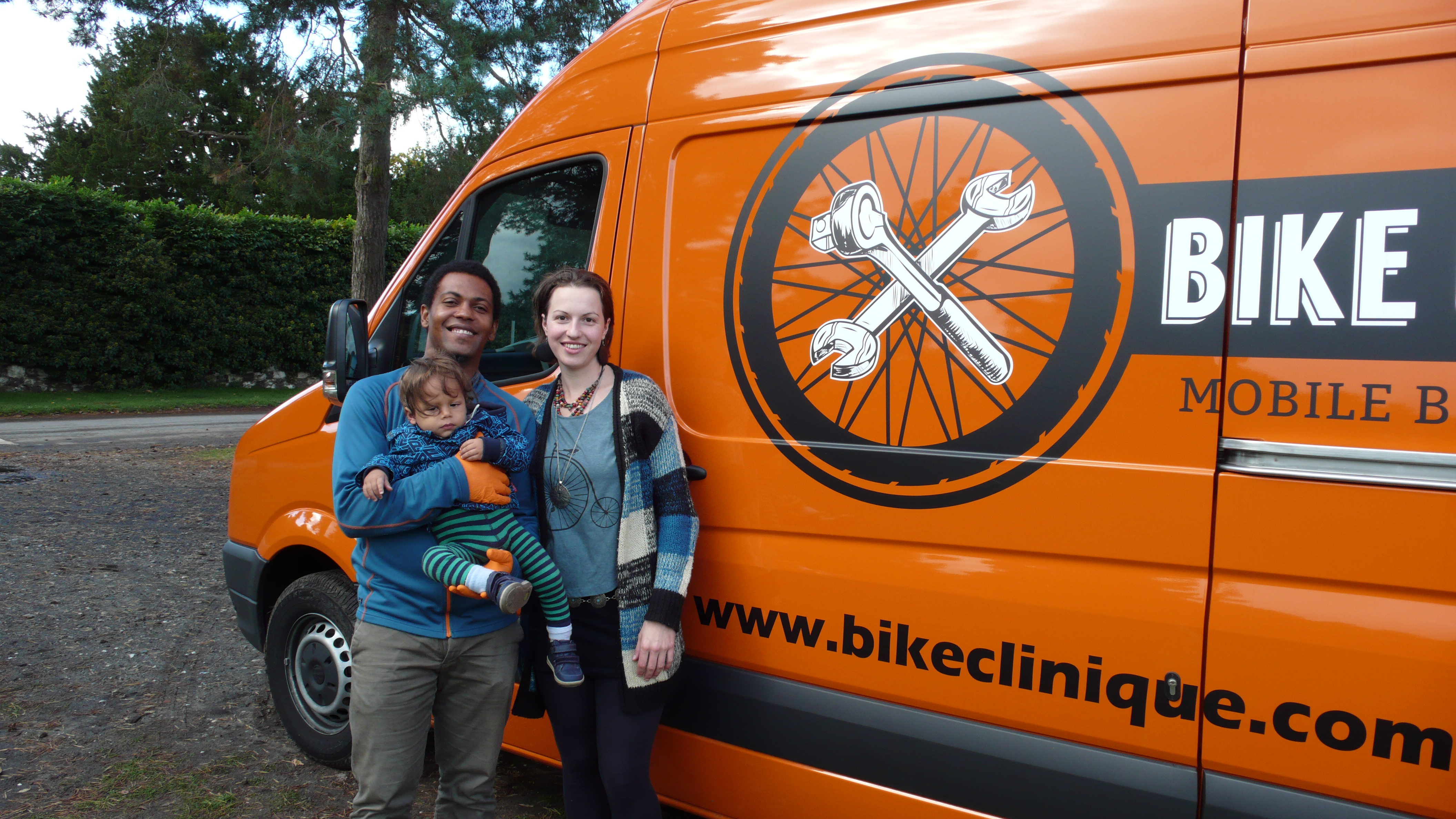 The Bike Clinique team- Family run, independent bike shop specialising in mobile bike repairs and servicing.
