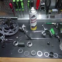 Full service in our mobile bike repair shop